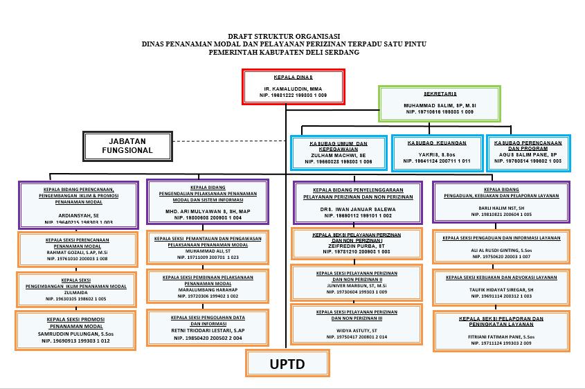 Struktur Organisasi DPMPPTSP Kab. Deli Serdang